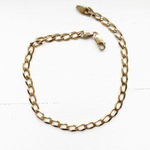 Vintage 18K gold Cuban chain bracelet